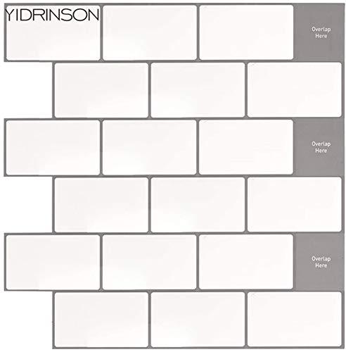 YIDRINSON - Adhesivo para azulejos (30,5 x 30,5 cm), color blanco