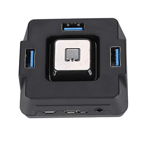 Eboxer Interruptor Multifuncional USB3.0 para PC de Escritorio, Botón de Reinicio de Alimentación Puerto de Micrófono y Audio para Hotel