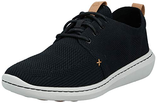 Clarks Herren Step Urban Mix Niedrig Sneaker, Schwarz (Black), 44 EU