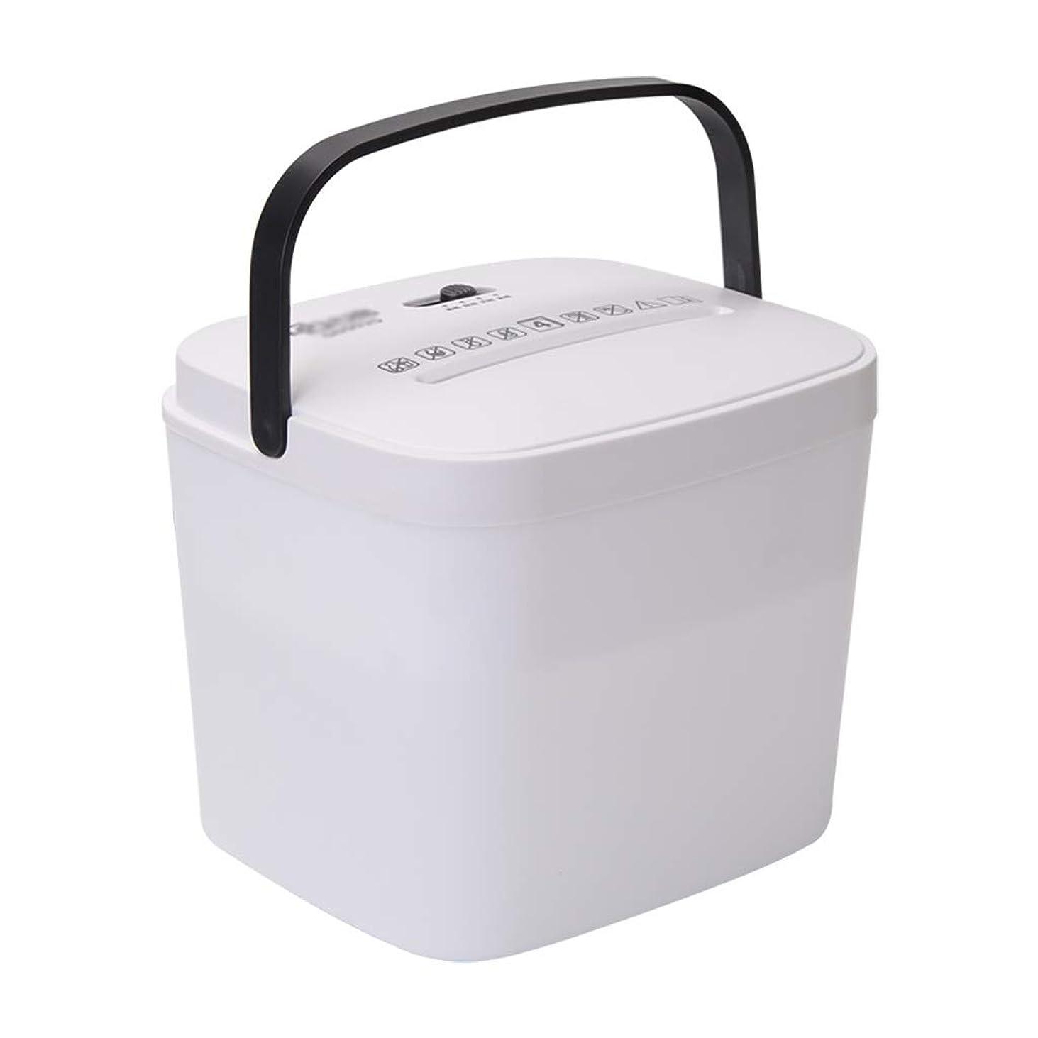 干渉するタンク編集する小さな家庭紙シュレッダー、商用ハイパワーファイルシュレッダー、ギフトボックスフィラーペーパーシュレッダー、ホワイト (Size : 220*175*175mm)