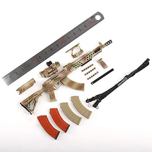 ZHWH Accesorios De Muñeca De Figura A Escala 1/6, Rifle Ruso SSO De Las Fuerzas Especiales AK74M Modelo De Plástico En Miniatura para Figuras De Acción De 12'no Se Puede Lanzar,Camouflage