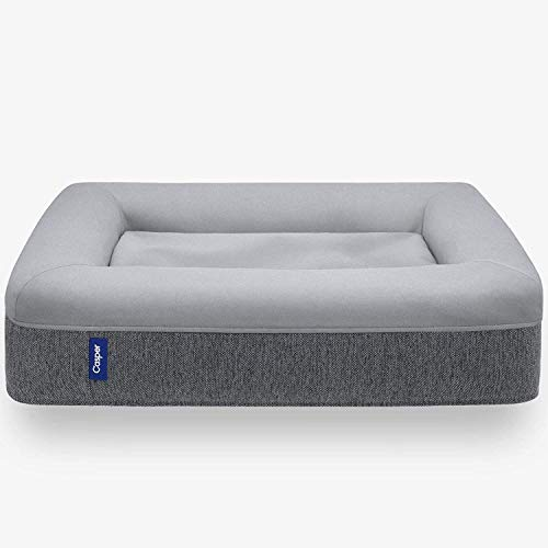 Casper Sleep Dog Bed, Plush Memory Foam, Medium, Gray (950-000058-002)