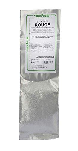 Bioferm - Levadura para vino tinto, 100 g, para 500 L, levadura seca, levadura de vino, levadura seca