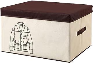 Lpiotyucwh Paniers et Boîtes De Rangement, 1pcs Organisateur de vêtements Pliable, avec poignée renforcée Tissu épais pour...