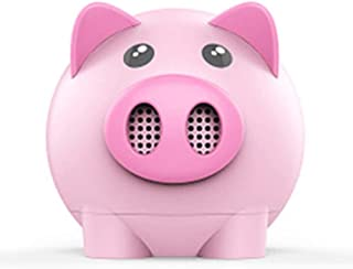 KJRJLY Cute Pig Bluetooth Speaker Wireless Mini Multi-Function Amplifier Portable Audio Festival Gift Small Gift (Color : Pink)