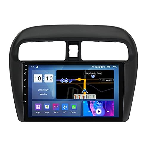 ADMLZQQ Android 10.0 Estéreo Automóvil Navegación GPS para Mitsubishi Mirage Attrage 2012-2018, Pantalla Táctil De 9 Pulgadas, Bluetooth Carplay FM Am SWC RDS DSP Cámara Trasera,M500s 8core 4+64g