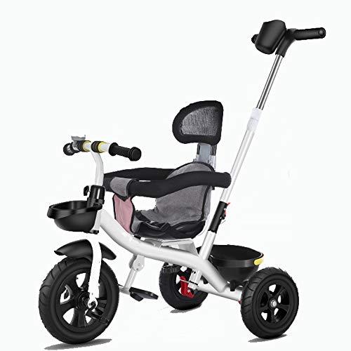 YUMEIGE driewieler kinderen driewieler 1-5Years oud verjaardagscadeau baby driewieler met duwstang last (gewicht 35kg)