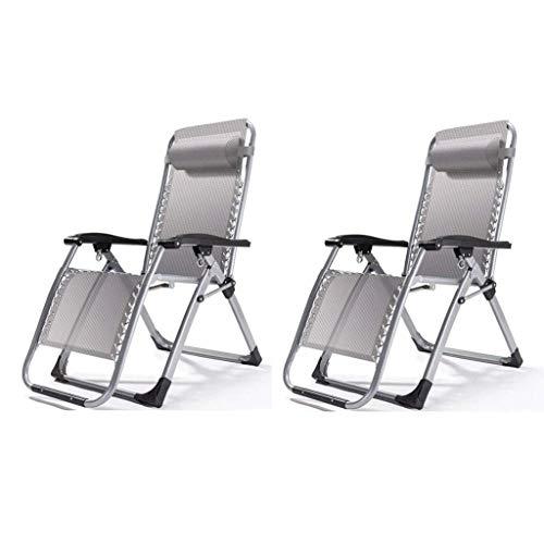 Haushaltsprodukte Sun Lounger Klappbare Gartenstühle 2er-Set Zero Gravity Chair Klappbarer Hochleistungs-Liegestuhl Sun Lounger Outdoor Garden Patio Schwerkraftstuhl Recliner Bett Klappbarer Reclin