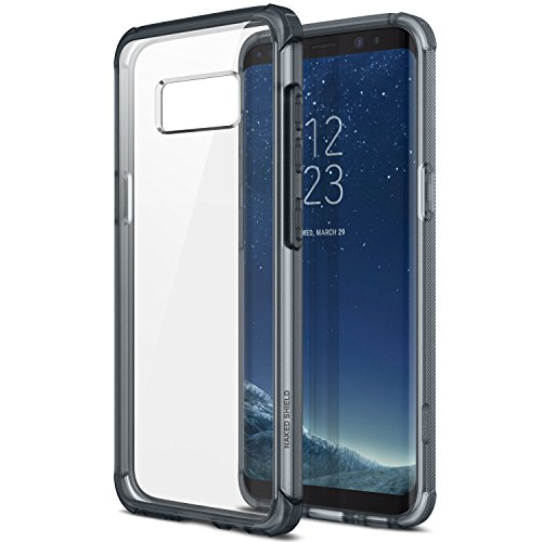 Obliq Naked Shield Hülle mit Clear Shock Resistant Protection TPU Bumper für Samsung Galaxy S8 (2017) - Smoky Navy
