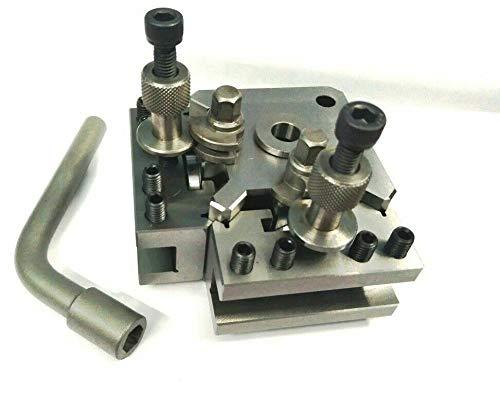 Quick Change T37 Werkzeug-Pfosten-Set + 2 Halterungen, Myford & Drehbank, 90-115 mm Mittenhöhe