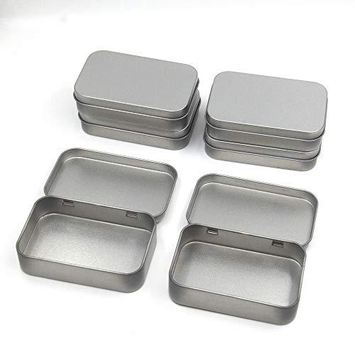 Cajas Rectangulares de Metal,6 Piezas Latas Pequeñas Rectangulares de Metal Latas de Bisagra Caja de Lata Portátil,para Abalorios, Monedas, Joyas, Dulces