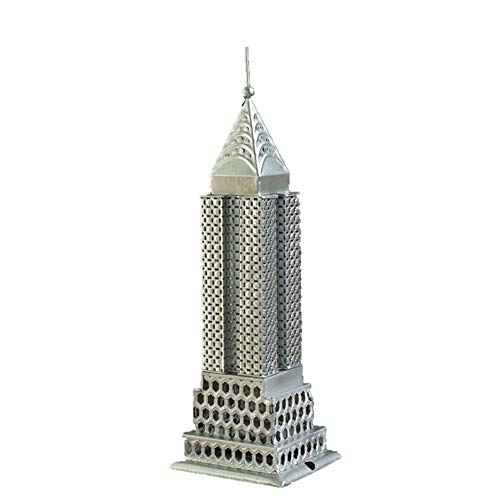 Ybzx Modelo de Escultura arquitectónica, Modelo de Edificio Empire State, Estatua de Arquitectura de Hierro, colección de Modelos 3D, decoración de Recuerdo