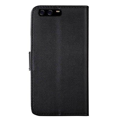 Eximmobile - Book Case Handyhülle für Huawei Ascend Y530 mit Kartenfächer in Schwarz | Schutzhülle aus Kunstleder | Handytasche als Flip Case Cover | Handy Tasche | Etui Hülle Kunstledertasche - 5