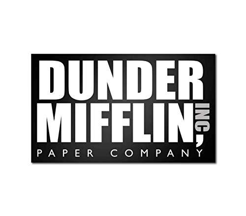 Cool TV Props - Dunder Mifflin Acrylic Sign - The Office Merchandise - 12.5 x 7.5 Inches