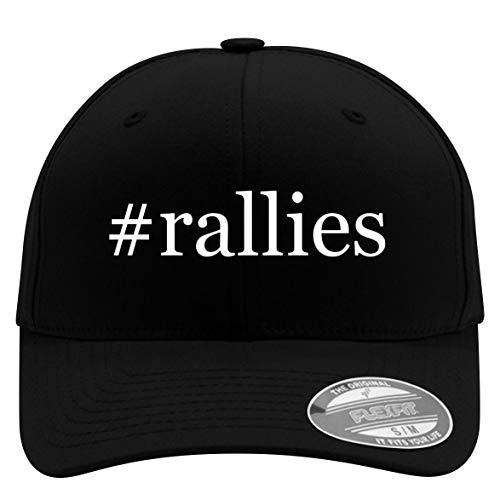 #Rallies - Flexfit Hashtag Adult Men's Baseball Cap Hat, Black, Large/X-Large