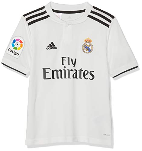 adidas 18/19 Real Madrid Home-Lfp Camiseta, Niños, Multicolor (blabas/Negro), 164