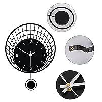 壁掛け時計、美しい外観シンプルなデザインプレミアムサイレントムーブメントバスルーム時計、オフィスリビングルームの寝室研究