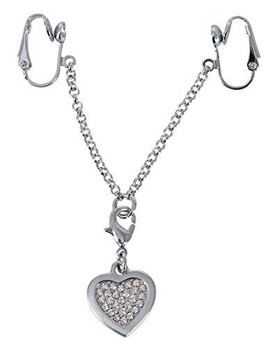 Orion Intieme ketting hart schaamlip spangen zilver