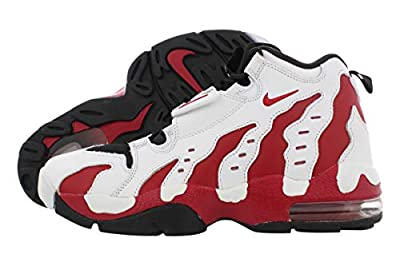 Nike Mens Air DT Max '96 Hight Top Pull On Running Sneaker, Red/White, Size 12.0