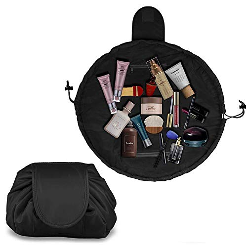 Trousse cosmétique avec cordon de serrage, trousse de maquillage de voyage, grande capacité, idéale pour les voyages, voyages d'affaires