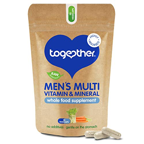 Men's Multi VIT & Mineral – Together Health – Specially Formulated for Men – 22 Nature-Based Nutrients – Vegan Friendly – Made in The UK – 30 Vegecaps