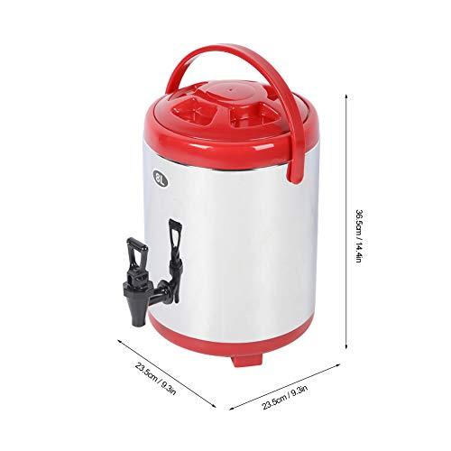 Okuyonic Mano de Obra estándar Usable Fácil de Limpiar Cubo de Aislamiento de Barril de Doble Aislamiento para Agua Caliente para té con Leche