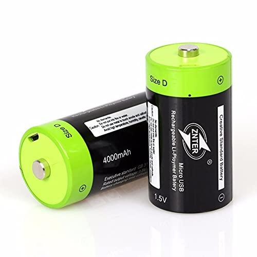 Batería recargable de iones de litio, 2 unids/lote 1.5 V 4000 mAh...