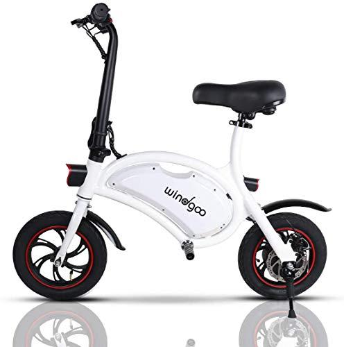 "Windgoo Bicicleta Electrica 36V Plegable - E-Bike 12"", Actualizar Bici Electrica Urbana Ligera para Adulto (Blanco)"