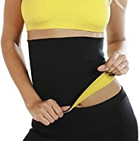 HUSB® Shaper Belt Non-Tearable Tummy Trimmer Slimming Belt for Men and Women (Size M, L, XL, XXL, 3XL, 4XL) (Black)