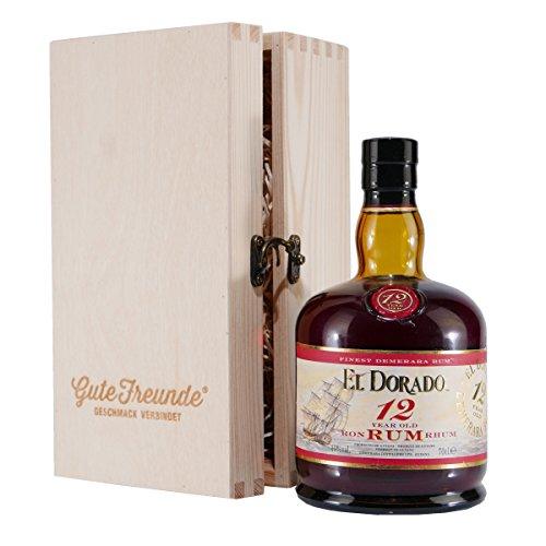 El Dorado Rum 12 Jahre mit Geschenk-Holzkiste