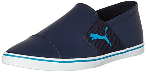 3. Puma Men's Elsu v2 Slip on SL DP Peacoat and Blue Jewel Sneakers