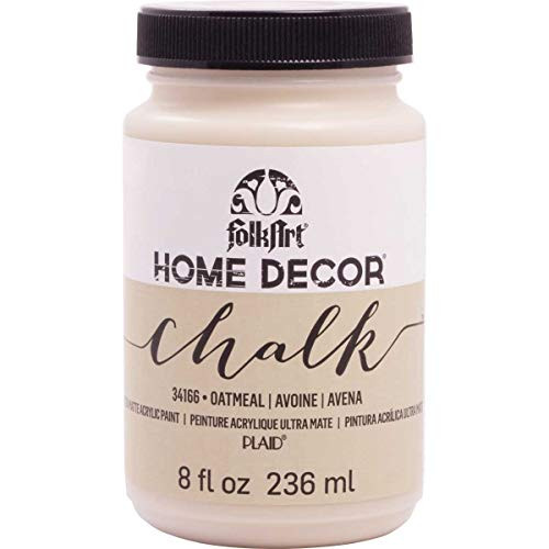 FolkArt Home Decor Chalk Furniture & Craft Paint in Assorted Colors, 8 ounce, Oatmeal