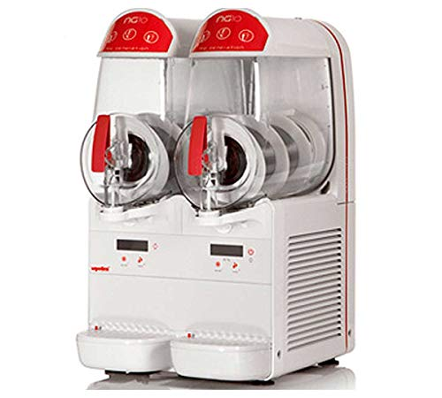 UGOLINI NG10/2 EASY - Máquina para granizados sorbetes cremas frías - 2 recipientes de 10 litros - Dispensador fabricado en Italia