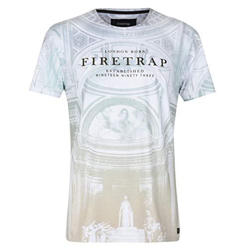 Firetrap Uomo Sublimation TC T-Shirt Girocollo Maglietta Baroque XXL