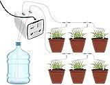 U/N Dispositivo di Irrigazione Automatico WiFi, Dispositivo di Irrigazione Intelligente per Fiori Irrigatore WiFi Automa a Pompa Singola per Interni, (Spina Europea) (0.88, 20)