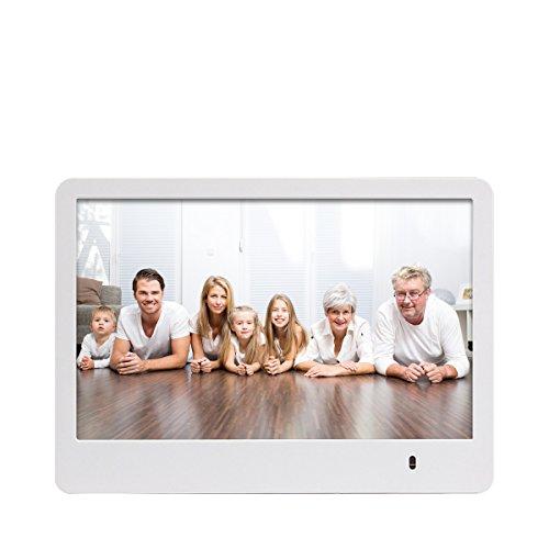 Rollei Pissarro DPF-82 - Digitaler Multi-Media Bilderrahmen mit 8.0 Zoll (20,3 cm) TFT-HD Panel, Uhrzeitanzeige, Kalenderfunktion, Diashow und Dreh-Funktion, inkl. Fernbedienung - Weiß