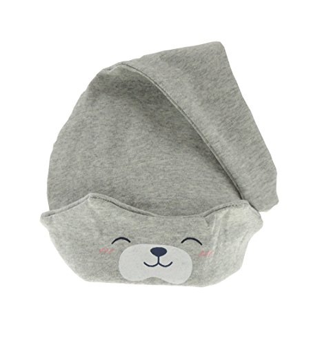 Glamour Girlz Bonnet de sommeil pliable en peluche pour bébé fille ou garçon Gris