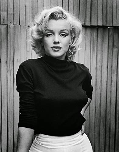 Marilyn Monroe Black and White Vivid Imagery Laminated Poster Print-20 Inch by 30 Inch Laminated Poster With Bright Colors And Vivid Imagery