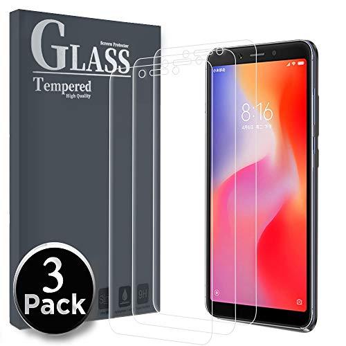 Ferilinso Panzerglas für Xiaomi Redmi 6 / Redmi 6A, [3 Pack] Schutzfolie Gehärtetes Glas Bildschirmschutzfolie für Xiaomi Redmi 6 / Redmi 6A (Transparent)