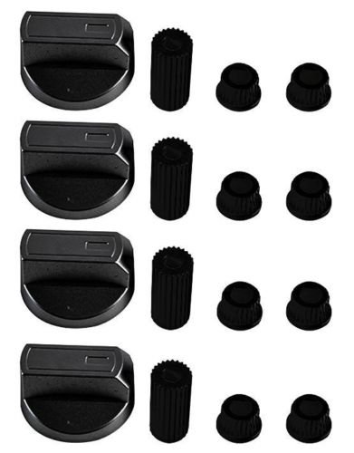 KGASUPPLIES Ignis Universal Black Control Knoppen voor Ovens, Kooktoestellen en Kookplaten (Pack van 4)