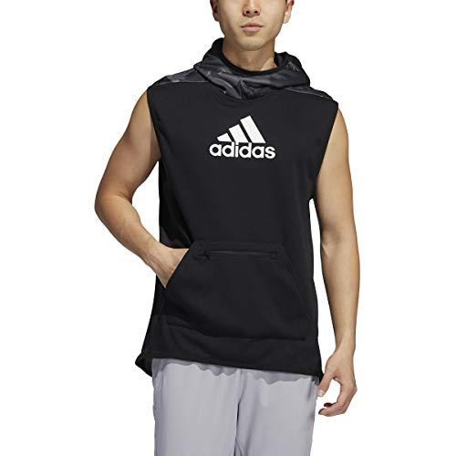 adidas Male Continent Camo City Sleeveless Hoodie, Grey , S