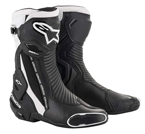 Alpinestars Stivali da Moto SMX Plus V2 Black White, Nero/Bianco, 46