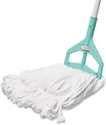 Spotzero Polypropylene Floor Cleaning Roll N Fit Looped Mop (Aqua Green)