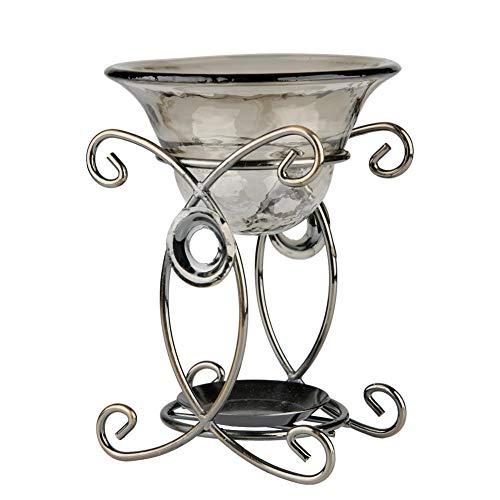 Vintage metalen aroma oven brander oven met glazen kom, aromatherapie etherische olielamp Herten vorm ijzer Aroma furna brander oven kaars aromatherapie etherische olielamp(319#)