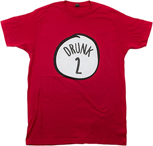 Drunk 2   Funny Drinking Team, Group Halloween Costume Unisex T-Shirt-Adult, M Red