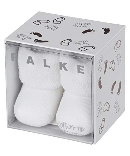 FALKE Unisex Baby Erstling B SO Socken, Blickdicht, Weiß (White 2000), 1-6 Monate (62-68cm)