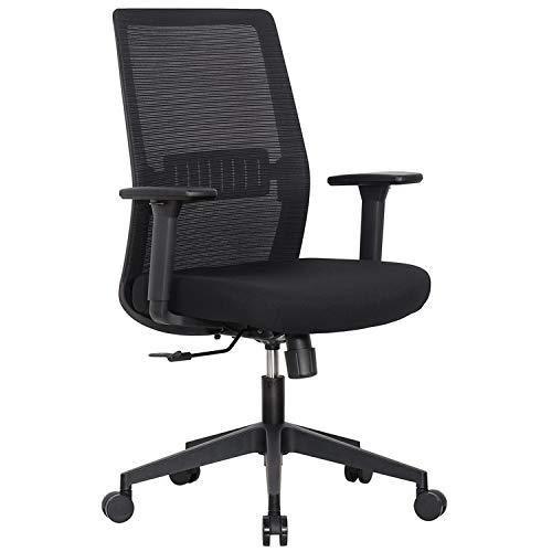 Vivol Ergonomiczne krzesło biurowe Napoli z wkładką z siateczki mesh, sprężyna gazowa, funkcja przechylania i regulacja wysokości