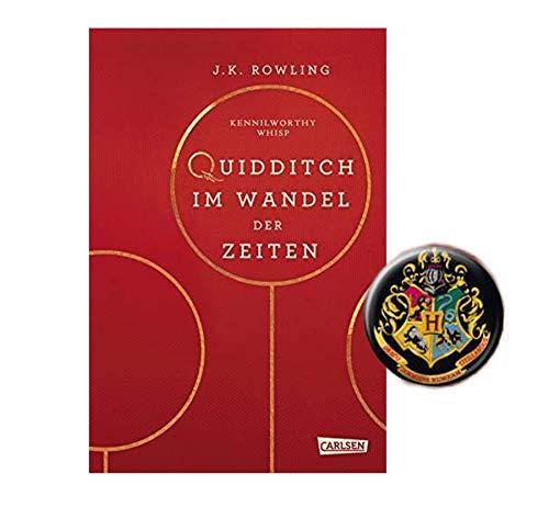 Harry Potter Hogwarts-Schulbuch: Quidditch im Wandel der Zeiten (Hardcover Set) + 1 Button