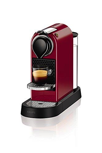 Nespresso XN740540 Nespresso Citiz Coffee Machine, 1260 W, Cherry Red by Krups