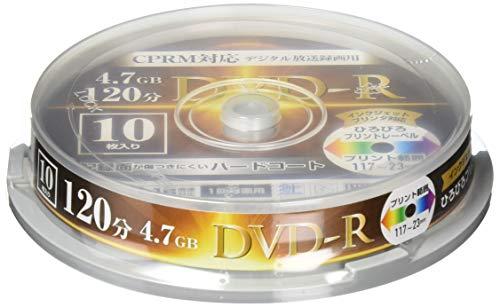 [山善] DVD-R 1回録画用 デジタル放送録画 1-16倍速 10枚入り CPRM対応 4.7GB ケース入り DVDR16XCPR10SP